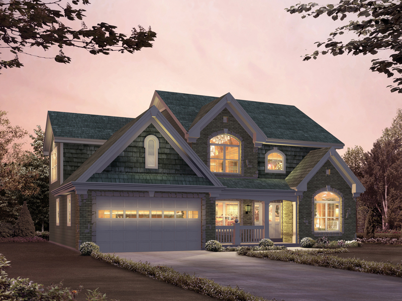 Traditional House Plan Front of Home 007D-0197