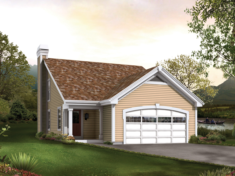 Saltbox House Plan Front of Home 007D-0200