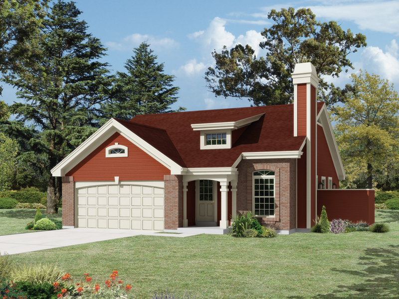 Ranch House Plan Front of Home 007D-0201