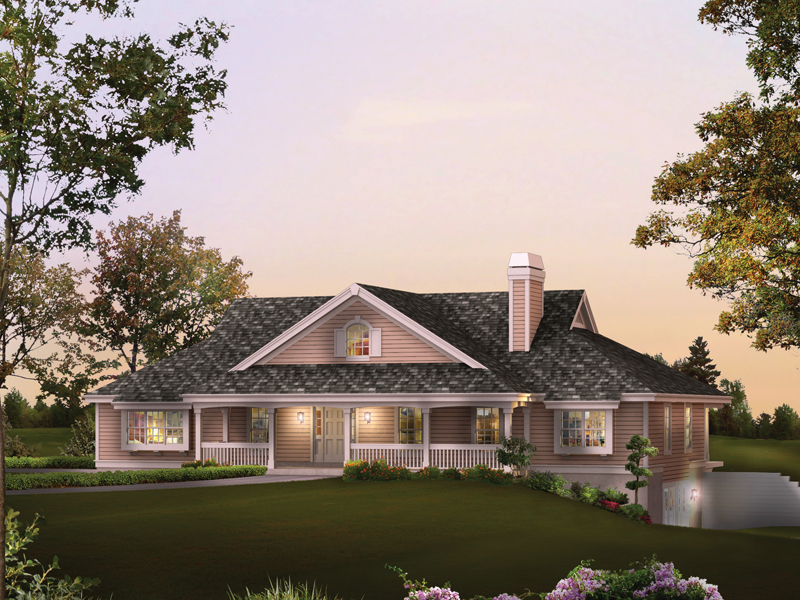 Rochelle bay country home plan 007d 0204 house plans and for Garage under house