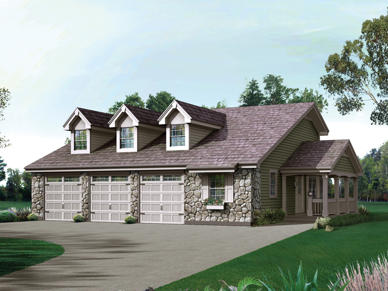 Country House Plan Front of Home 007D-0205