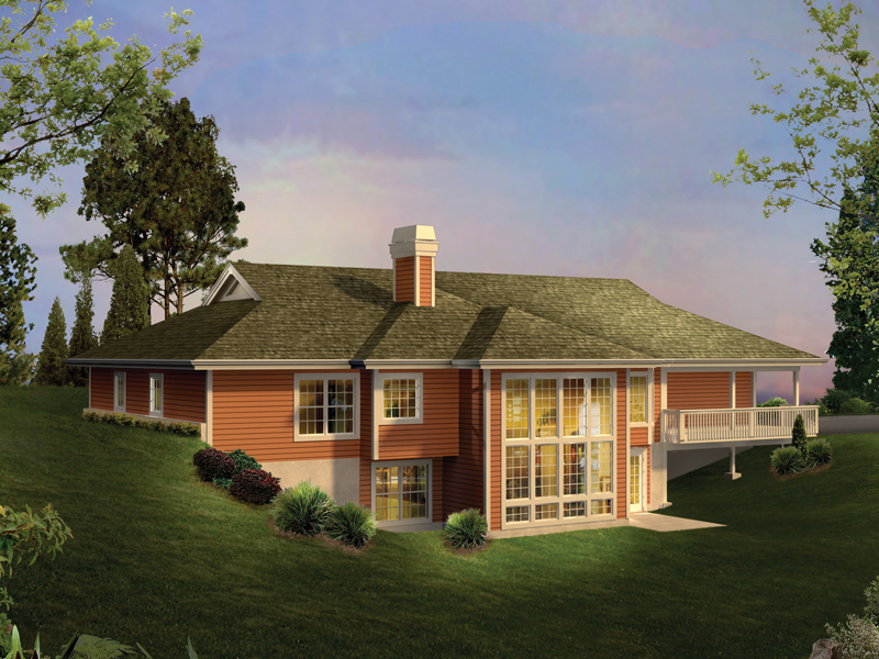 Berm Home Plan Color Image of House 007D-0206