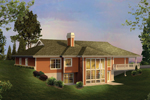 Berm Home Plan Color Image of House - 007D-0206 | House Plans and More