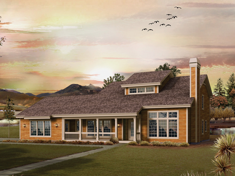 Country House Plan Front of Home 007D-0208