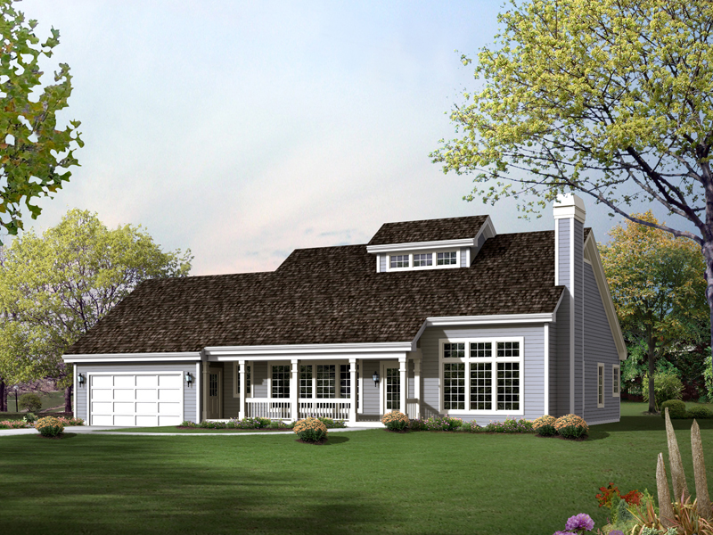 Country House Plan Front of Home 007D-0210