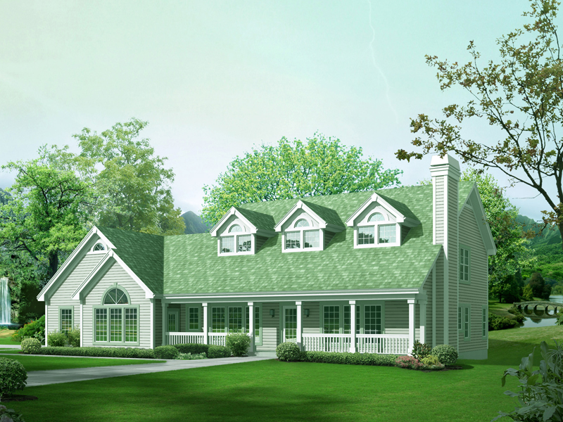 Country House Plan Front of Home 007D-0211