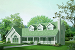 Three Large Dormers Top This Country Style Home