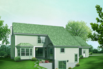 Contemporary House Plan Color Image of House - 007D-0211 | House Plans and More