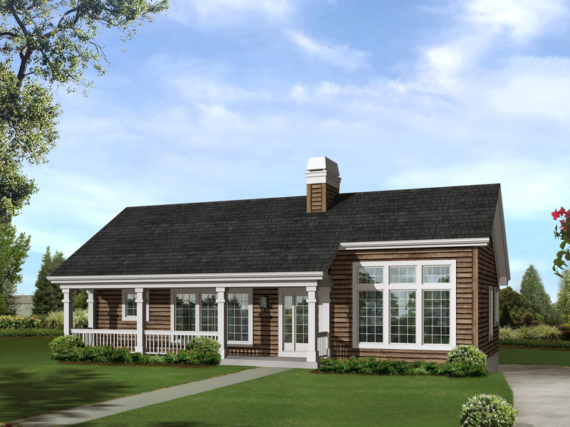 Vacation Home Plan Front of Home 007D-0214
