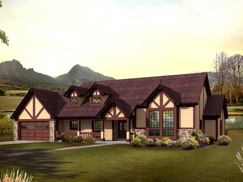Nottingham hill tudor home plan 007d 0215 house plans for Old world style house plans