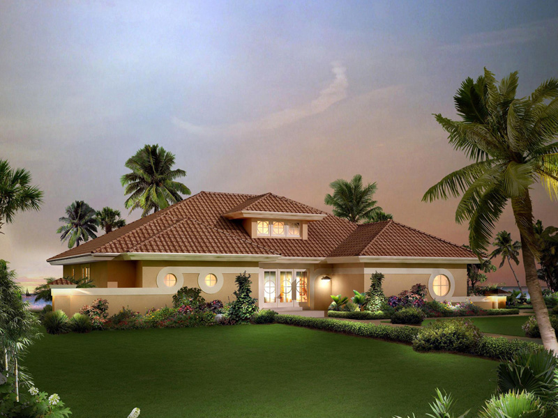 Florida House Plan Front of Home 007D-0219