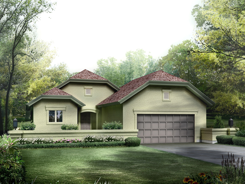Florida House Plan Front of Home 007D-0222