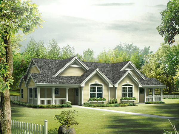 Springdale manor ranch duplex plan 007d 0226 house plans One story duplex house plans