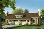 Ranch House Plan Front of Home - 007D-0227 | House Plans and More