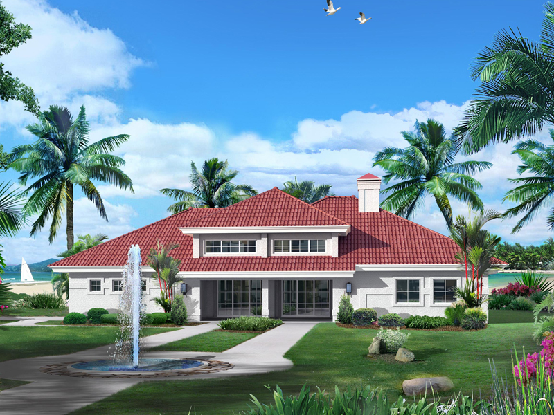 Sunbelt Home Plan Front of Home - 007D-0229 | House Plans and More
