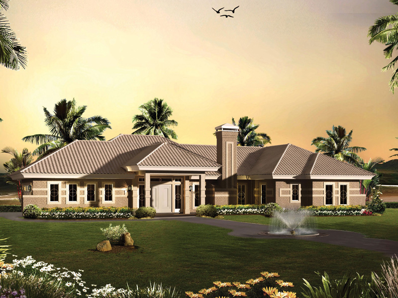 Ranch House Plan Front of Home - 007D-0230 | House Plans and More