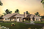 Sunbelt Home Plan Front of Home - 007D-0230 | House Plans and More