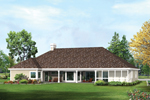 Colonial Floor Plan Color Image of House - 007D-0231 | House Plans and More