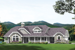 Ranch House Plan Front of Home - 007D-0232 | House Plans and More