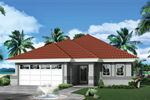 Southwestern House Plan Front of Home - 007D-0233 | House Plans and More