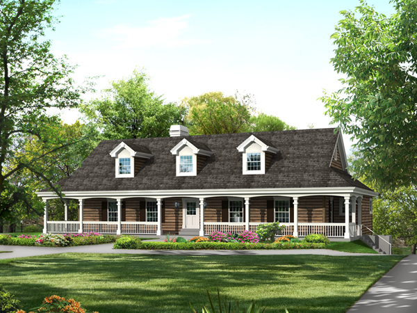 Cochepark manor country home plan 007d 0235 house plans for Single level home with wrap around porch