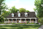 Farmhouse Plan Front of Home - 007D-0235 | House Plans and More