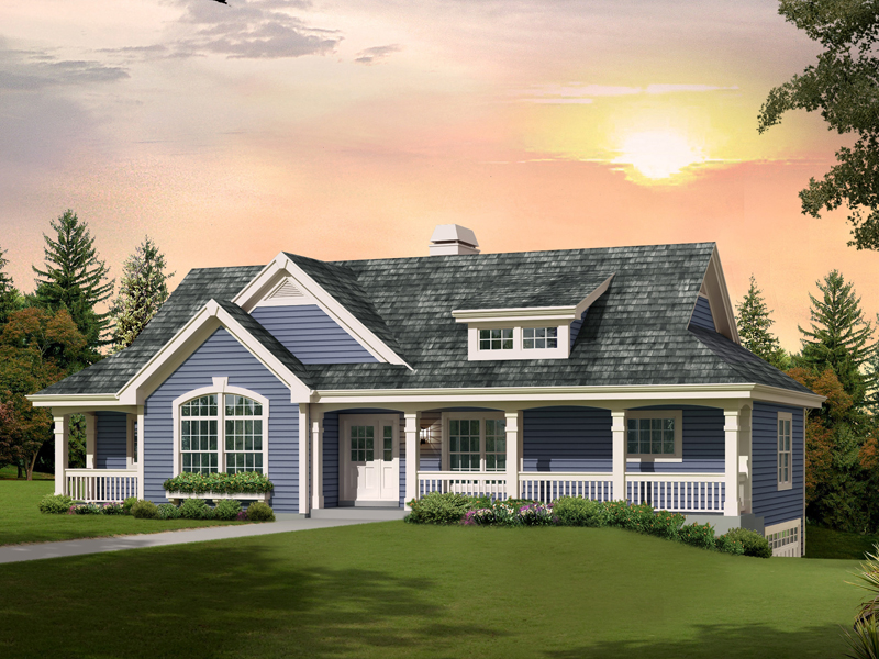 Ranch House Plan Front of Home 007D-0236