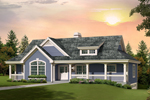 Cabin and Cottage Plan Front of Home - 007D-0236 | House Plans and More