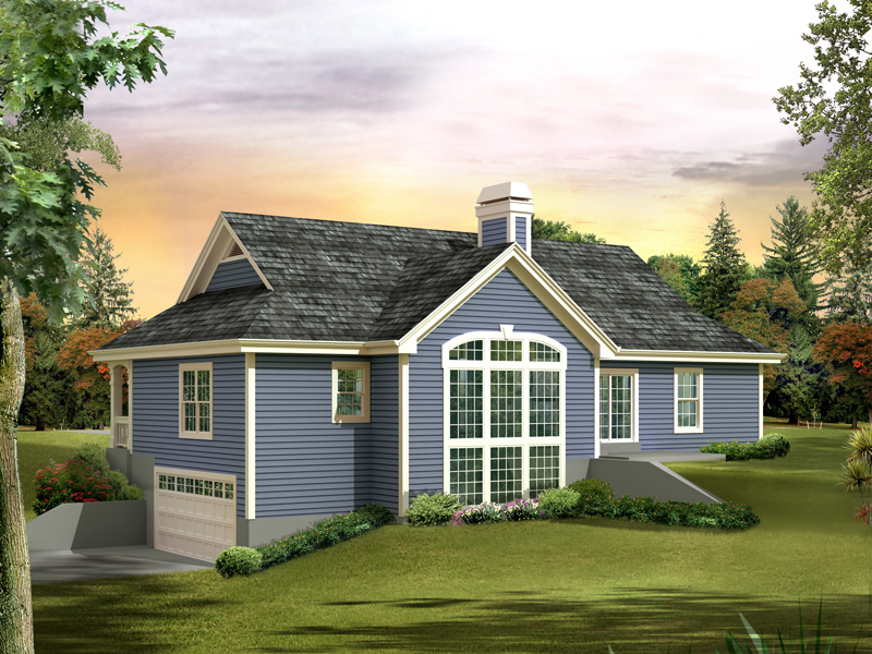 Cabin and Cottage Plan Rear Photo of House - 007D-0236 | House Plans and More