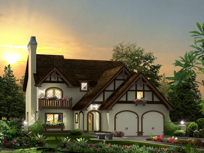 Tudor House Plan Front of Home - 007D-0238 | House Plans and More