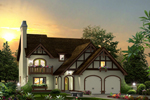 English Tudor House Plan Front of Home - 007D-0238 | House Plans and More