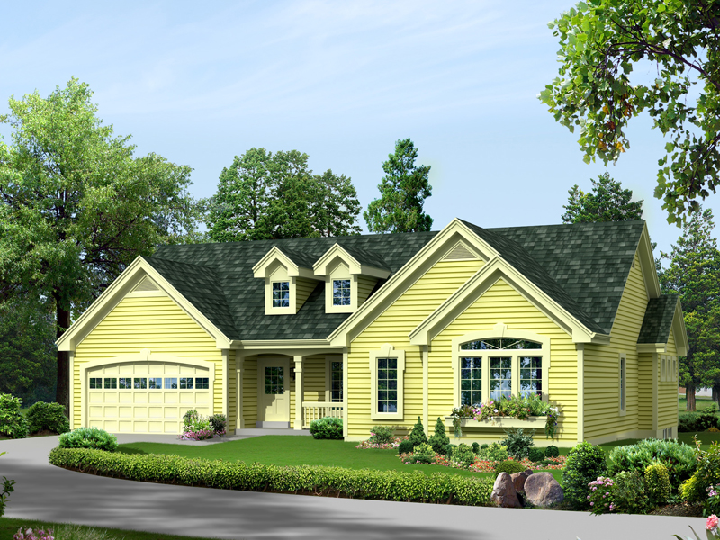Ranch House Plan Front of Home - 007D-0239 | House Plans and More