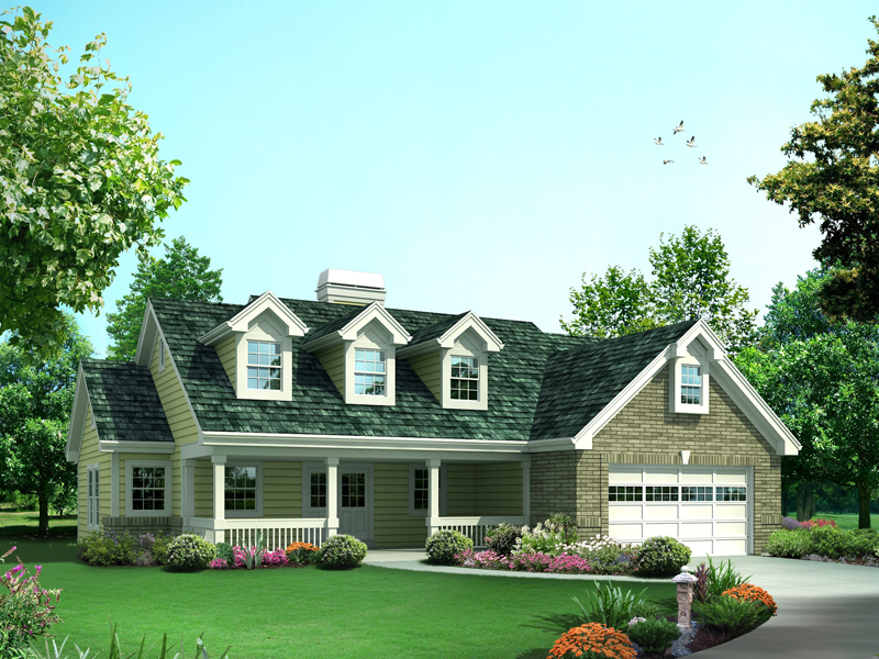 Ranch House Plan Front of Home - 007D-0240 | House Plans and More