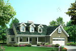 Vacation Home Plan Front of Home - 007D-0240 | House Plans and More