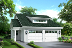 Vacation Home Plan Front of Home - 007D-0241 | House Plans and More