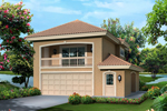 Southwestern House Plan Front of Home - 007D-0242 | House Plans and More