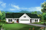 Colonial House Plan Front of Home - 007D-0243 | House Plans and More