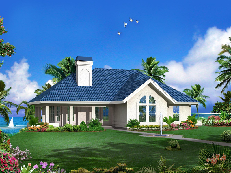 Vacation Home Plan Front of Home 007D-0244