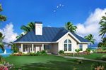 Vacation House Plan Front of Home - 007D-0244 | House Plans and More