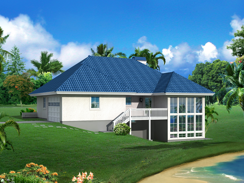 Vacation Home Plan Color Image of House 007D-0244