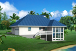 Vacation Home Plan Color Image of House - 007D-0244 | House Plans and More