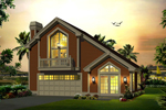 Vacation Home Plan Front of Home - 007D-0245 | House Plans and More