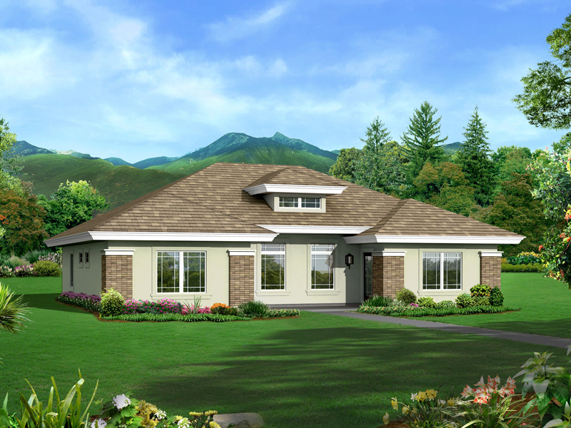 Prairie Style Floor Plan Front of Home 007D-0246