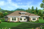 Prairie Style Floor Plan Front of Home - 007D-0246 | House Plans and More