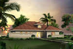 Sunbelt Home Plan Front of Home - 007D-0247 | House Plans and More