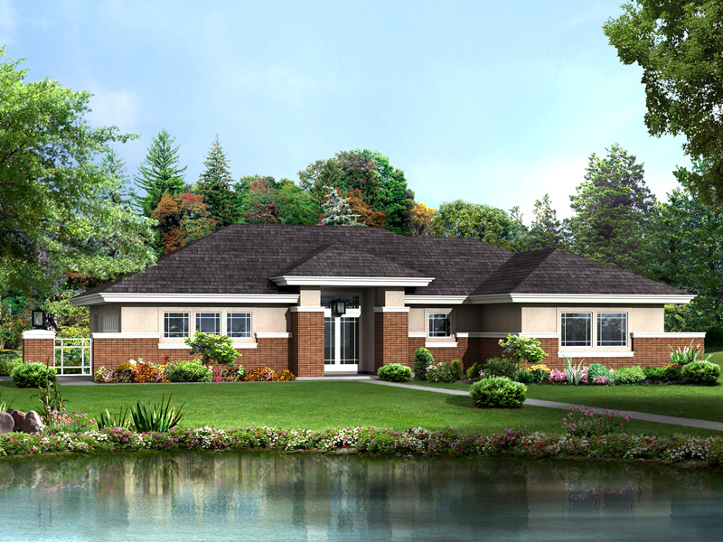 Prairie Style Floor Plan Front of Home 007D-0248