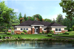 Vacation Home Plan Front of Home - 007D-0248 | House Plans and More
