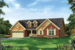 Ranch House Plan Front of Home - 007D-0249 | House Plans and More
