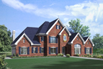 Traditional House Plan Front of Home - 007D-0250 | House Plans and More