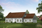 Cape Cod/ New England Home With Double Side Entry Garages